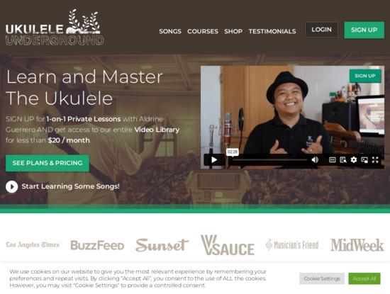 Screenshot of ukuleleunderground.com