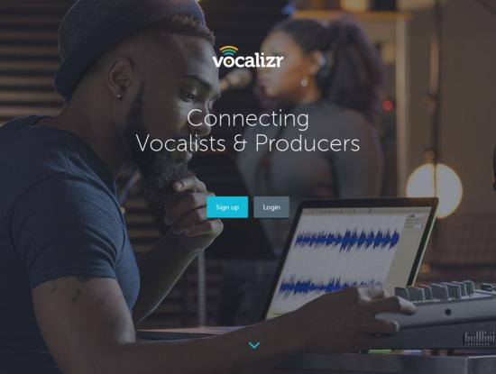 Screenshot of vocalizr.com