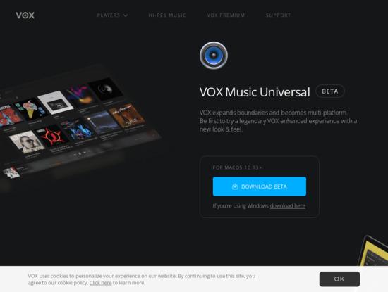 Screenshot of vox.rocks