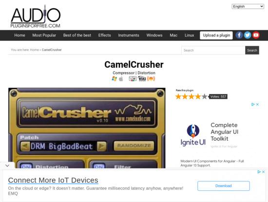Screenshot of www.audiopluginsforfree.com