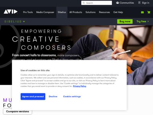Screenshot of www.avid.com