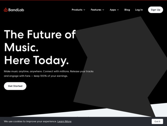 Screenshot of www.bandlab.com