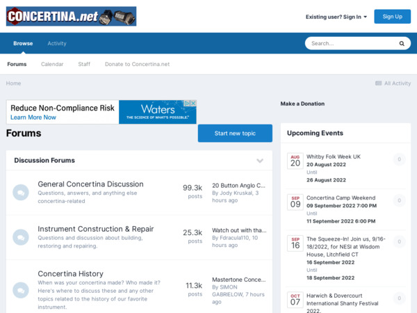 Screenshot of www.concertina.net