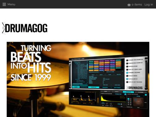 Screenshot of www.drumagog.com