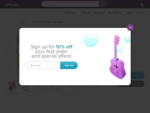 Screenshot of www.emediamusic.com