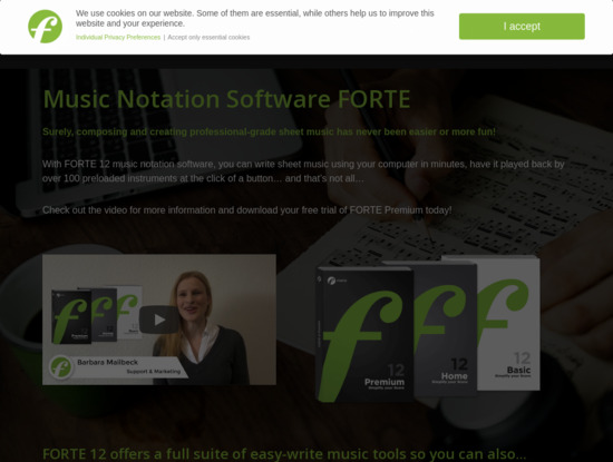 Screenshot of www.fortenotation.com