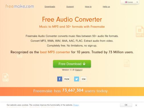 Screenshot of www.freemake.com