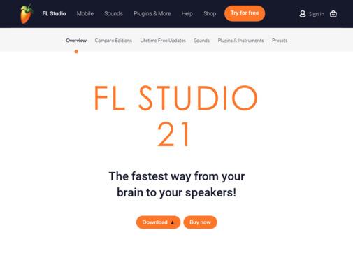 Screenshot of www.image-line.com