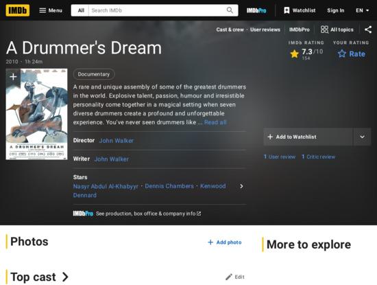 Screenshot of www.imdb.com