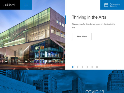 Screenshot of www.juilliard.edu