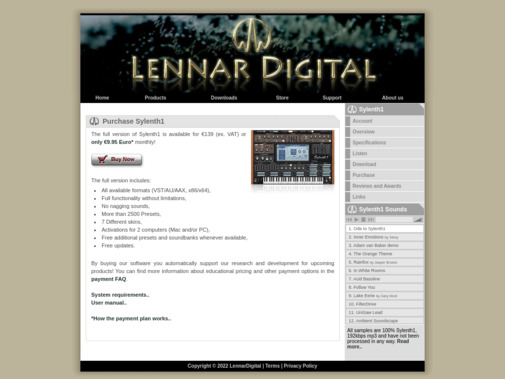 Screenshot of www.lennardigital.com
