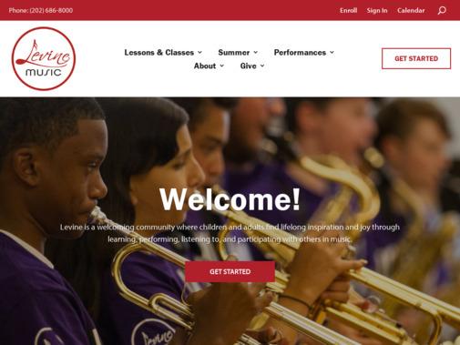 Screenshot of www.levinemusic.org