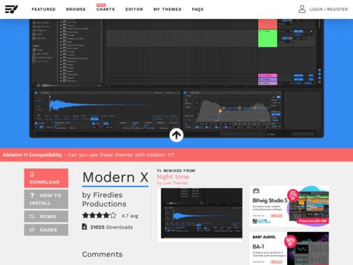 Screenshot of www.livethemes.co