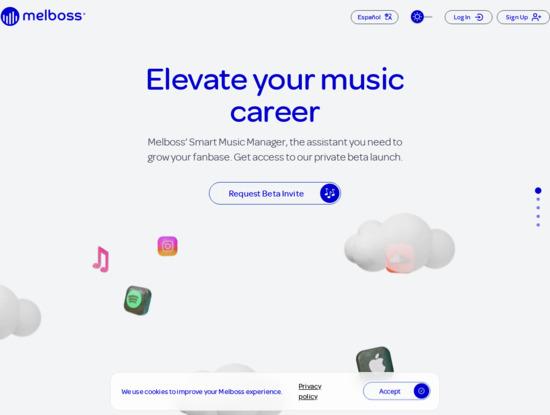 Screenshot of www.melboss.com