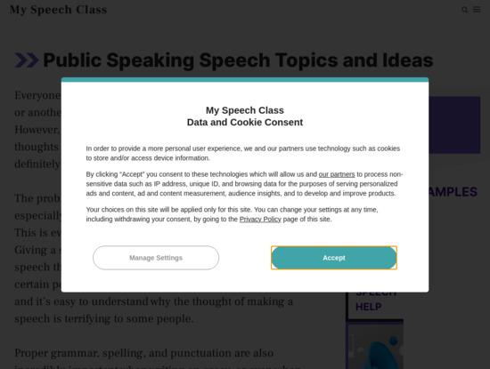 Screenshot of www.myspeechclass.com