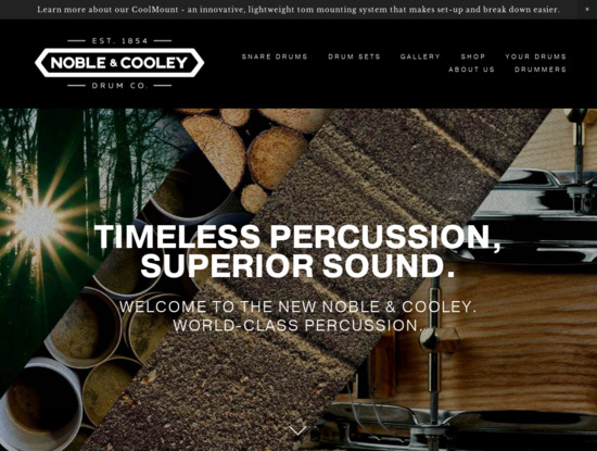 Screenshot of www.noblecooley.com