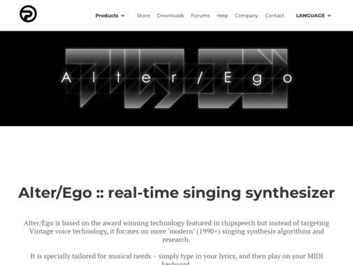 Screenshot of www.plogue.com