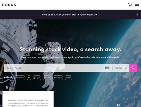Screenshot of www.pond5.com