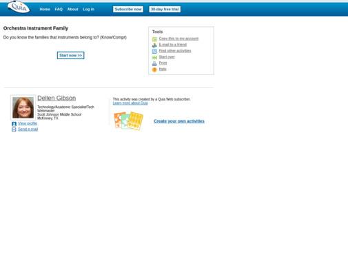 Screenshot of www.quia.com