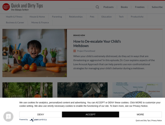 Screenshot of www.quickanddirtytips.com