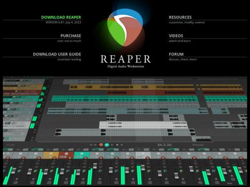 Screenshot of www.reaper.fm