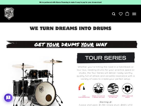 Screenshot of www.sjcdrums.com