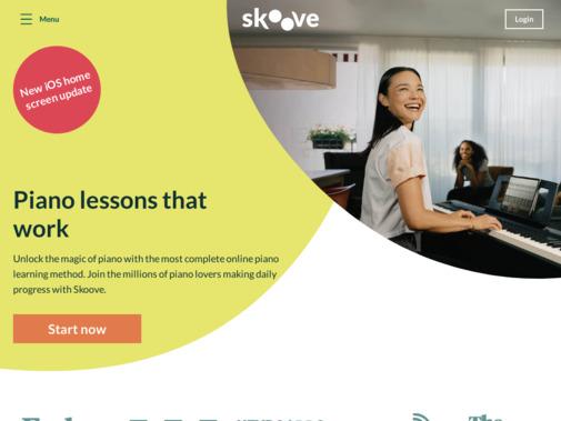 Screenshot of www.skoove.com