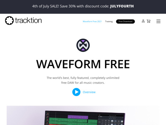 Screenshot of www.tracktion.com