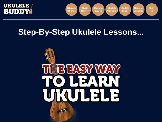 Screenshot of www.ukulelebuddy.com