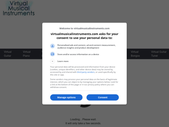 Screenshot of www.virtualmusicalinstruments.com