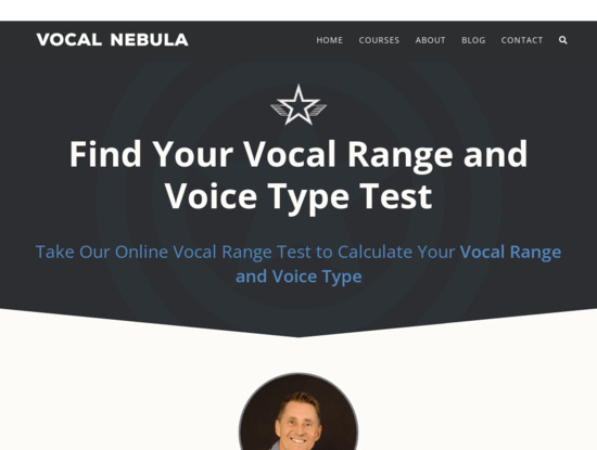 Screenshot of www.vocalnebula.com