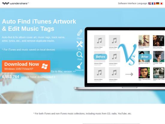 Screenshot of www.wondershare.net
