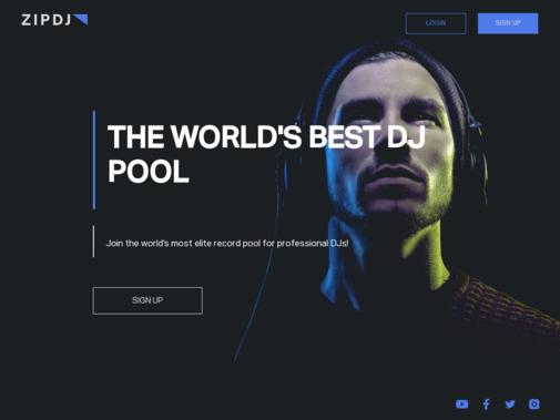 Screenshot of www.zipdj.com