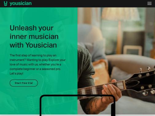 Screenshot of yousician.com