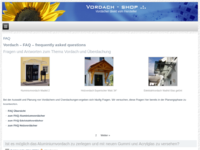 Vordach FAQ