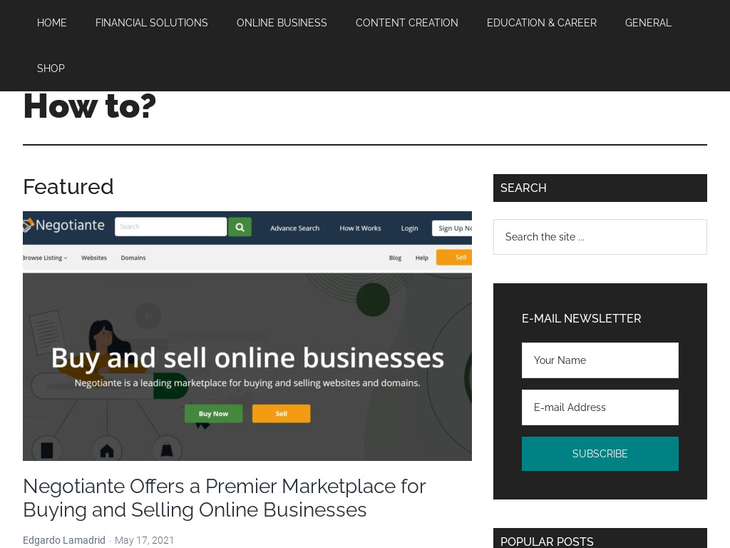 Site for sale screenshot